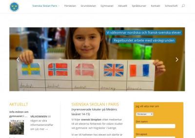 Site web Svenska Skolan Paris